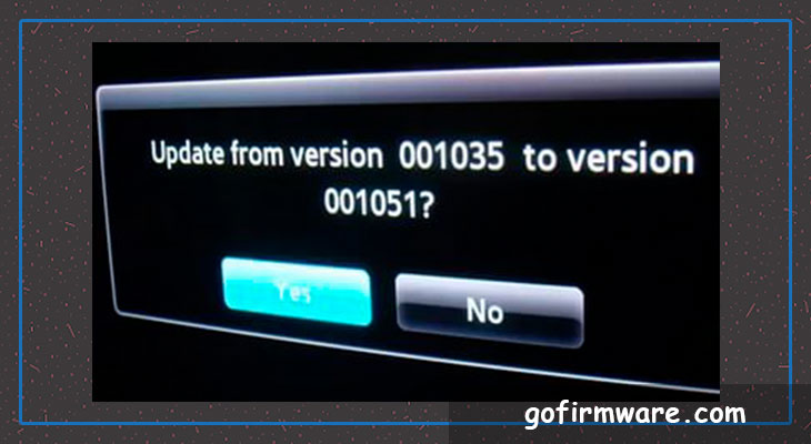 Download firmware for a TV